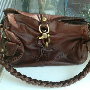 Francesco Biasia handbag shoulder bag purse brown